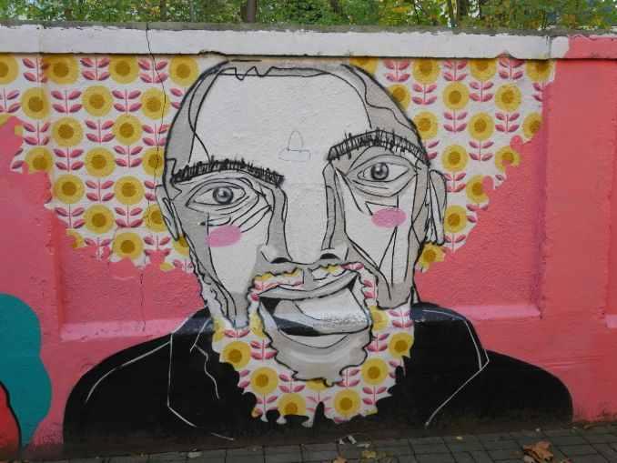 Opi leicht Loco Roco als Graffiti im Beitrag zu Vision Ziele Warum Psyche